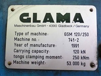 12 ton Glama GSM 120/250 Rail | Bound Manipulators Re:24621-22 (two)