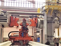 "48"" diameter 3000 ton Galdabini model Twin 3000 Automatic 